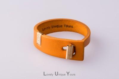 Жіночий шкіряний браслет LUY N. 3 один оберт (жовтий)