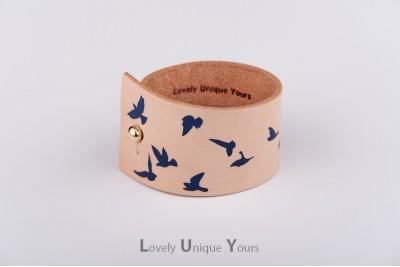 Жіночий шкіряний браслет LUY N. 9 DOVE - синій