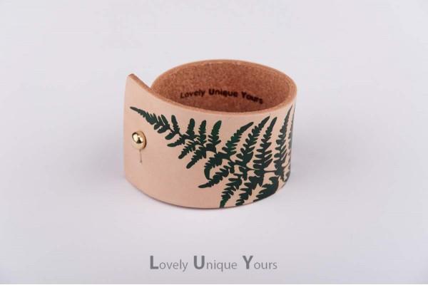 Жіночий шкіряний браслет LUY N. 9 FERN - зелений